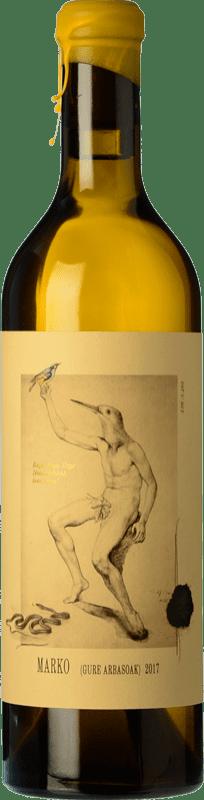 24,95 € Free Shipping | White wine Oxer Wines Marko Selección Especial Crianza D.O. Bizkaiko Txakolina Basque Country Spain Hondarribi Zuri, Petit Manseng, Hondarribi Zerratia Bottle 75 cl