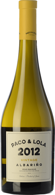 25,95 € 免费送货 | 白酒 Paco & Lola Vintage Crianza D.O. Rías Baixas 加利西亚 西班牙 Albariño 瓶子 75 cl