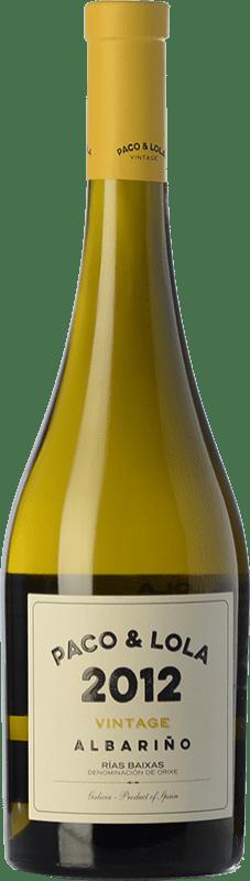 25,95 € Free Shipping | White wine Paco & Lola Vintage Crianza D.O. Rías Baixas Galicia Spain Albariño Bottle 75 cl