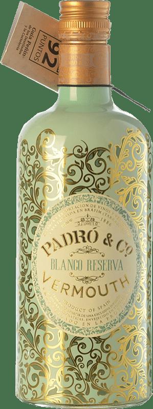 11,95 € 免费送货 | 苦艾酒 Padró Blanco Reserva 加泰罗尼亚 西班牙 瓶子 70 cl