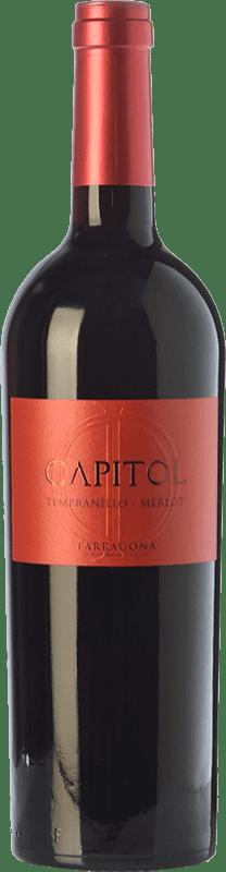 4,95 € 免费送货 | 红酒 Padró Capitol Crianza D.O. Tarragona 加泰罗尼亚 西班牙 Tempranillo, Merlot 瓶子 75 cl