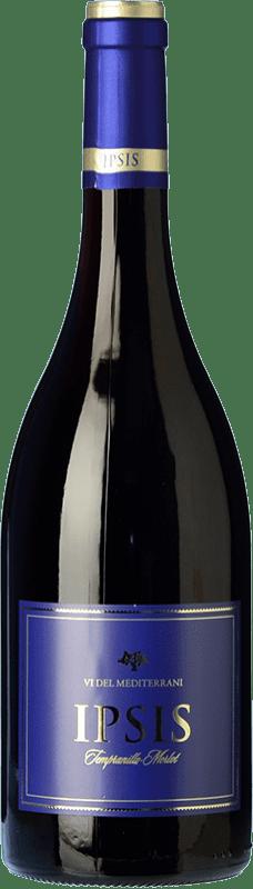 6,95 € Free Shipping | Red wine Padró Ipsis Negre Tempranillo-Merlot Joven D.O. Tarragona Catalonia Spain Tempranillo, Merlot Bottle 75 cl