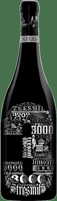 28,95 € Free Shipping | Red wine Pago de Aylés Tres de 3000 Crianza D.O. Cariñena Aragon Spain Merlot, Grenache, Cabernet Sauvignon Bottle 75 cl