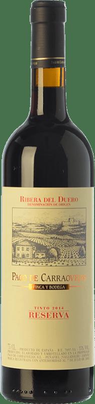 47,95 € Envío gratis | Vino tinto Pago de Carraovejas Reserva D.O. Ribera del Duero Castilla y León España Tempranillo, Merlot, Cabernet Sauvignon Botella 75 cl