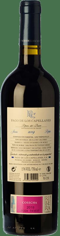 15,95 € Free Shipping | Red wine Pago de los Capellanes Roble D.O. Ribera del Duero Castilla y León Spain Tempranillo Bottle 75 cl