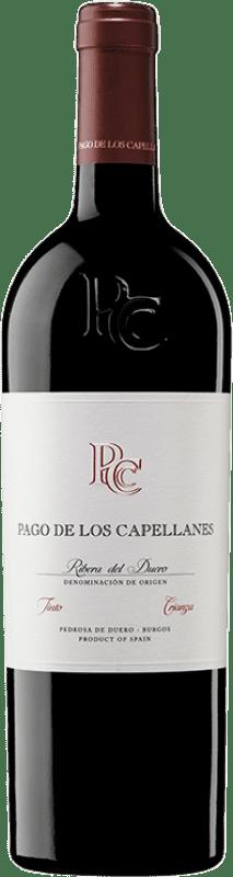 22,95 € Envoi gratuit | Vin rouge Pago de los Capellanes Crianza D.O. Ribera del Duero Castille et Leon Espagne Tempranillo Bouteille 75 cl