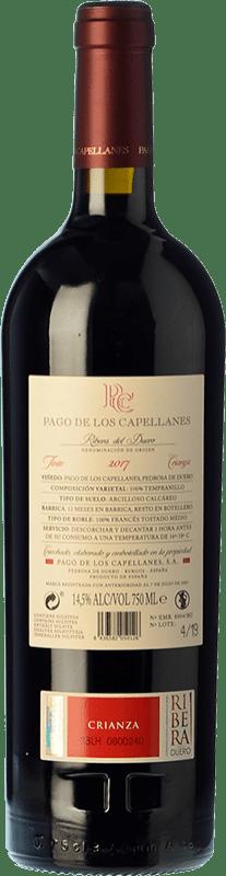 22,95 € Free Shipping | Red wine Pago de los Capellanes Crianza D.O. Ribera del Duero Castilla y León Spain Tempranillo Bottle 75 cl