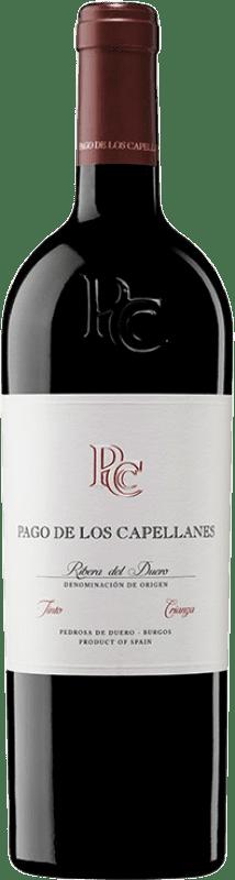 44,95 € | Red wine Pago de los Capellanes Crianza D.O. Ribera del Duero Castilla y León Spain Tempranillo, Cabernet Sauvignon Magnum Bottle 1,5 L