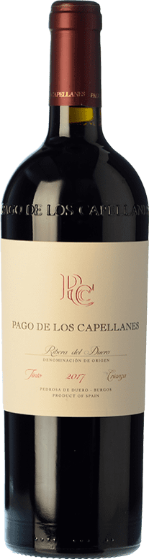 44,95 € Envoi gratuit | Vin rouge Pago de los Capellanes Crianza D.O. Ribera del Duero Castille et Leon Espagne Tempranillo, Cabernet Sauvignon Bouteille Magnum 1,5 L