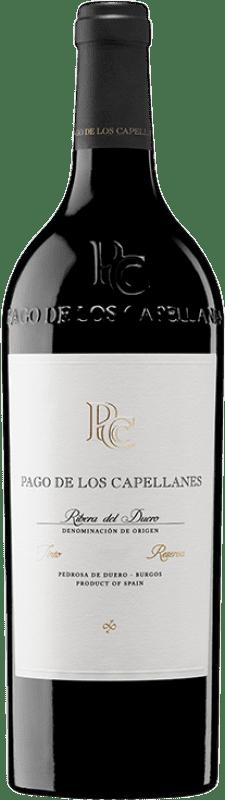 36,95 € Envoi gratuit | Vin rouge Pago de los Capellanes Reserva D.O. Ribera del Duero Castille et Leon Espagne Tempranillo, Cabernet Sauvignon Bouteille 75 cl