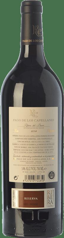 35,95 € Free Shipping | Red wine Pago de los Capellanes Reserva D.O. Ribera del Duero Castilla y León Spain Tempranillo, Cabernet Sauvignon Bottle 75 cl