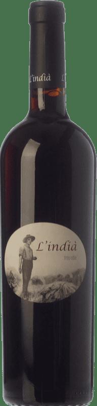 11,95 € Free Shipping | Red wine Pagos de Híbera L'Indià Roble D.O. Terra Alta Catalonia Spain Grenache, Carignan Bottle 75 cl