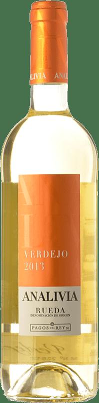 6,95 € | Vino bianco Pagos del Rey Analivia Joven D.O. Rueda Castilla y León Spagna Verdejo Bottiglia 75 cl