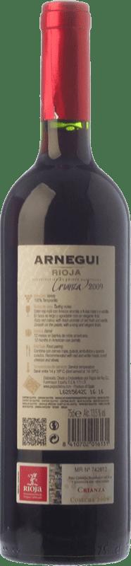 7,95 € Free Shipping   Red wine Pagos del Rey Arnegui Crianza D.O.Ca. Rioja The Rioja Spain Tempranillo Bottle 75 cl