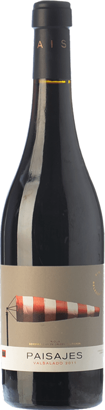 18,95 € 免费送货   红酒 Paisajes Valsalado Crianza D.O.Ca. Rioja 拉里奥哈 西班牙 Tempranillo, Grenache, Graciano, Mazuelo 瓶子 75 cl