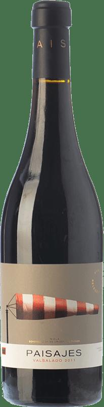 18,95 € Free Shipping | Red wine Paisajes Valsalado Crianza D.O.Ca. Rioja The Rioja Spain Tempranillo, Grenache, Graciano, Mazuelo Bottle 75 cl
