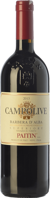 26,95 € | Red wine Paitin Campolive D.O.C. Barbera d'Alba Piemonte Italy Barbera Bottle 75 cl