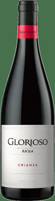 6,95 € Envío gratis | Vino tinto Palacio Glorioso Crianza D.O.Ca. Rioja La Rioja España Tempranillo Botella 75 cl