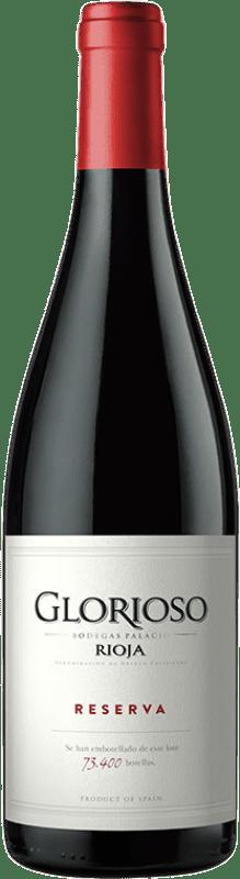 11,95 € Envío gratis | Vino tinto Palacio Glorioso Reserva D.O.Ca. Rioja La Rioja España Tempranillo Botella 75 cl