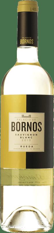 9,95 € 免费送货 | 白酒 Palacio de Bornos D.O. Rueda 卡斯蒂利亚莱昂 西班牙 Sauvignon White 瓶子 75 cl