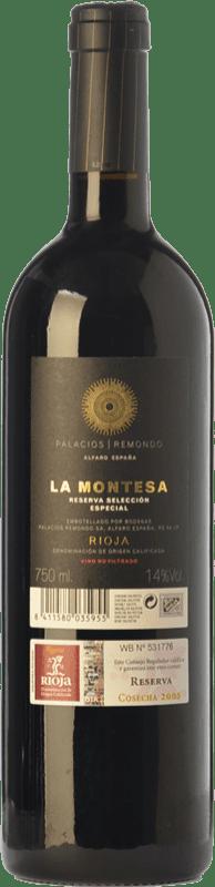 36,95 € Free Shipping   Red wine Palacios Remondo La Montesa Selección Especial Reserva D.O.Ca. Rioja The Rioja Spain Tempranillo, Grenache, Mazuelo Bottle 75 cl