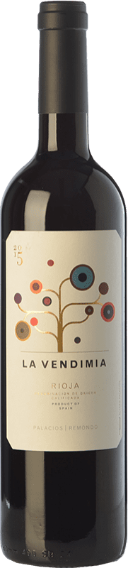 9,95 € Envío gratis | Vino tinto Palacios Remondo La Vendimia Joven D.O.Ca. Rioja La Rioja España Tempranillo, Garnacha Botella 75 cl