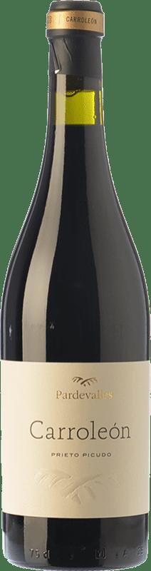 27,95 € Envío gratis | Vino tinto Pardevalles Carroleón Crianza D.O. León Castilla y León España Prieto Picudo Botella 75 cl