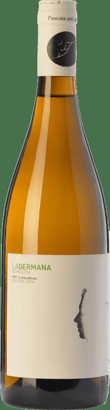 9,95 € Envío gratis | Vino blanco Pascona La Germana Crianza D.O. Montsant Cataluña España Macabeo, Moscatel Grano Menudo Botella 75 cl