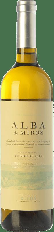 11,95 € Envío gratis | Vino blanco Peñafiel Alba de Miros D.O. Rueda Castilla y León España Verdejo Botella 75 cl
