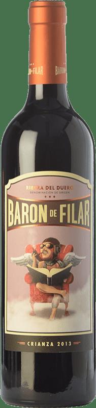 17,95 € Envío gratis | Vino tinto Peñafiel Barón de Filar Crianza D.O. Ribera del Duero Castilla y León España Tempranillo, Merlot, Cabernet Sauvignon Botella 75 cl