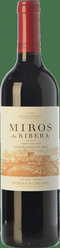 7,95 € | Red wine Peñafiel Miros Cosecha Joven D.O. Ribera del Duero Castilla y León Spain Tempranillo Bottle 75 cl