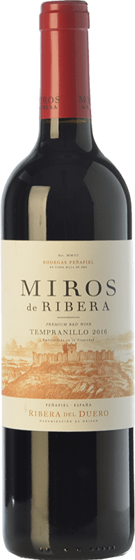 7,95 € Envío gratis | Vino tinto Peñafiel Miros Cosecha Joven D.O. Ribera del Duero Castilla y León España Tempranillo Botella 75 cl