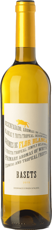 4,95 € Free Shipping | White wine Pere Ventura Basets Blanc Joven D.O. Catalunya Catalonia Spain Muscat, Macabeo Bottle 75 cl