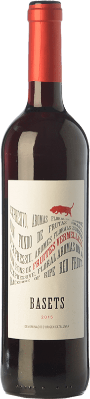 4,95 € | Red wine Pere Ventura Basets Negre Joven D.O. Catalunya Catalonia Spain Merlot, Cabernet Sauvignon Bottle 75 cl