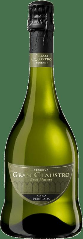 15,95 € | White sparkling Perelada Gran Claustro Brut Nature Reserva D.O. Cava Catalonia Spain Pinot Black, Chardonnay, Parellada Bottle 75 cl
