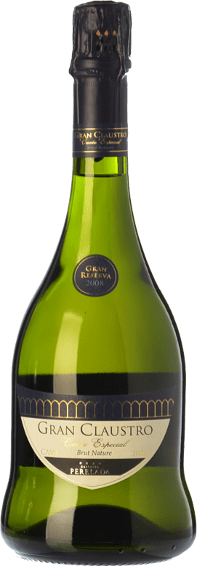 17,95 € Free Shipping | White sparkling Perelada Gran Claustro Cuvée Especial Brut Nature Gran Reserva D.O. Cava Catalonia Spain Xarel·lo, Chardonnay, Parellada Bottle 75 cl