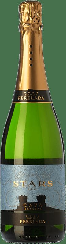 8,95 € | White sparkling Perelada Stars Brut Reserva D.O. Cava Catalonia Spain Macabeo, Xarel·lo, Parellada Bottle 75 cl