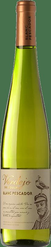 6,95 € Free Shipping | White wine Perelada Blanc Pescador D.O. Empordà Catalonia Spain Verdejo Bottle 75 cl