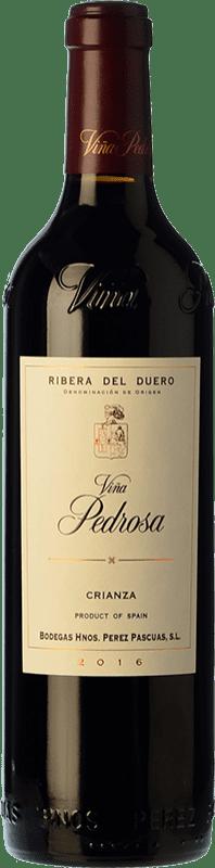 53,95 € Envío gratis | Vino tinto Pérez Pascuas Viña Pedrosa Crianza D.O. Ribera del Duero Castilla y León España Tempranillo Botella Mágnum 1,5 L