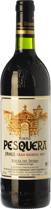 96,95 € | Red wine Pesquera Janus Gran Reserva 2003 D.O. Ribera del Duero Castilla y León Spain Tempranillo Bottle 75 cl