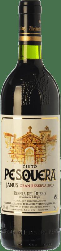 96,95 € Envoi gratuit | Vin rouge Pesquera Janus Gran Reserva 2003 D.O. Ribera del Duero Castille et Leon Espagne Tempranillo Bouteille 75 cl
