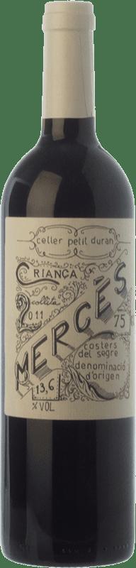 19,95 € Free Shipping   Red wine Petit Duran Mercès Criança Crianza D.O. Costers del Segre Catalonia Spain Merlot, Cabernet Sauvignon Bottle 75 cl