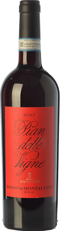 23,95 € Free Shipping | Red wine Pian delle Vigne D.O.C. Rosso di Montalcino Tuscany Italy Sangiovese Bottle 75 cl