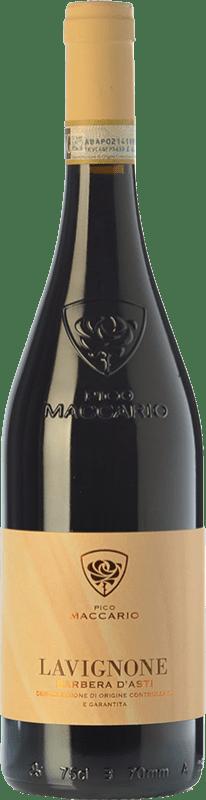 11,95 € Free Shipping | Red wine Pico Maccario Lavignone D.O.C. Barbera d'Asti Piemonte Italy Barbera Bottle 75 cl