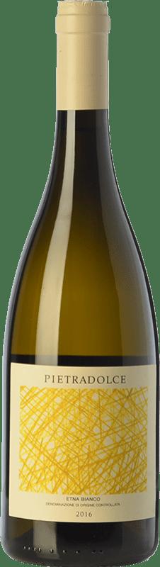 22,95 € Envío gratis | Vino blanco Pietradolce Bianco D.O.C. Etna Sicilia Italia Carricante Botella 75 cl