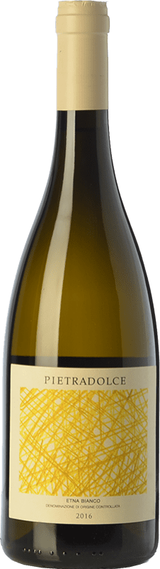22,95 € Free Shipping | White wine Pietradolce Bianco D.O.C. Etna Sicily Italy Carricante Bottle 75 cl