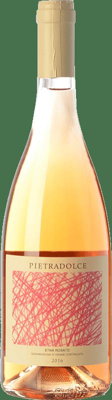 15,95 € Envío gratis | Vino rosado Pietradolce Rosato D.O.C. Etna Sicilia Italia Nerello Mascalese Botella 75 cl