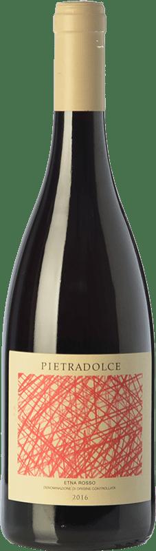 19,95 € Envío gratis | Vino tinto Pietradolce Rosso D.O.C. Etna Sicilia Italia Nerello Mascalese Botella 75 cl