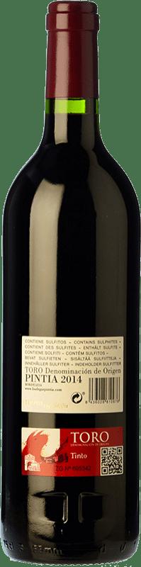 48,95 € Free Shipping | Red wine Pintia Crianza D.O. Toro Castilla y León Spain Tinta de Toro Bottle 75 cl