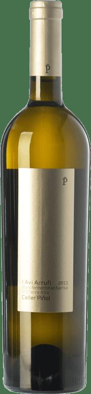 19,95 € Envío gratis | Vino blanco Piñol L'Avi Arrufi Blanc Fermentat en Barrica Crianza D.O. Terra Alta Cataluña España Garnacha Blanca Botella 75 cl